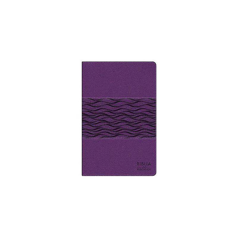 NTV Biblia del Pescador, violeta perlado símil piel