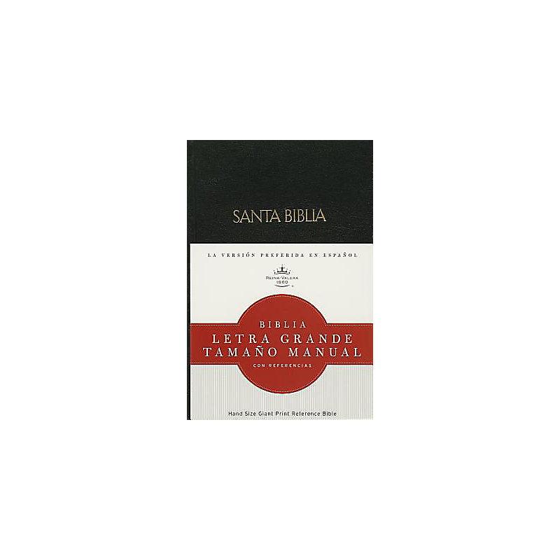 RVR 1960 Biblia Letra Grande Tamaño Manual, negro tapa dura con índice