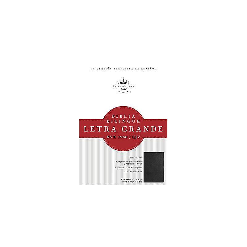 RVR 1960/KJV Biblia Bilingüe Letra Grande, negro tapa dura