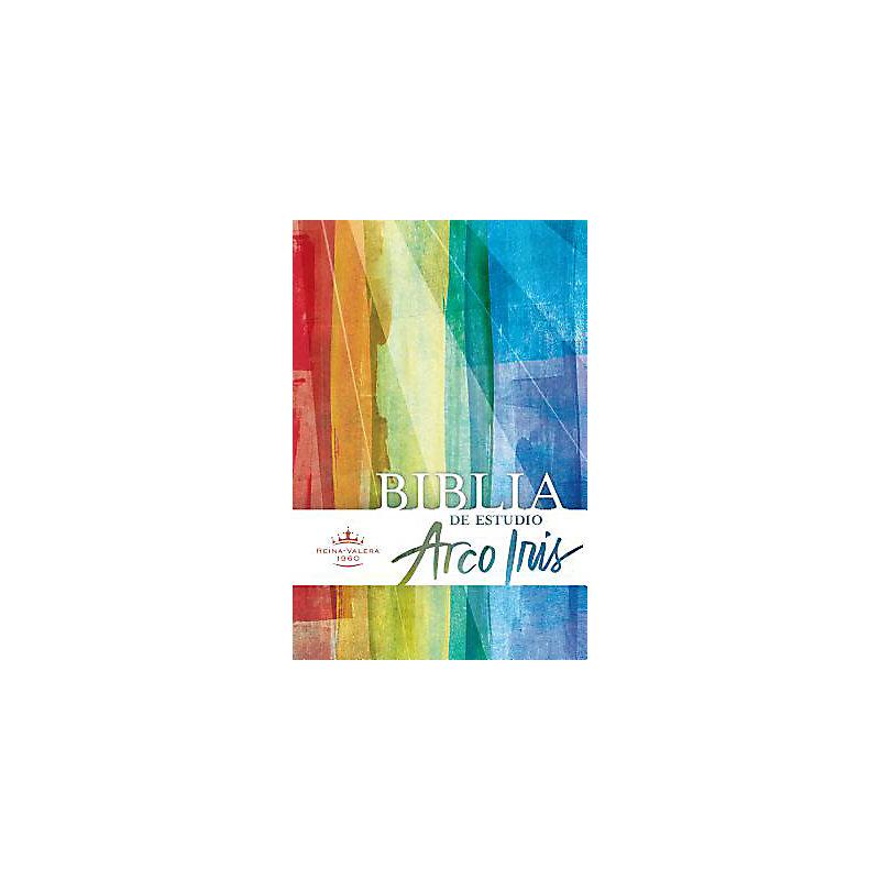 RVR 1960 Biblia de Estudio Arco Iris, multicolor, tapa dura con índice