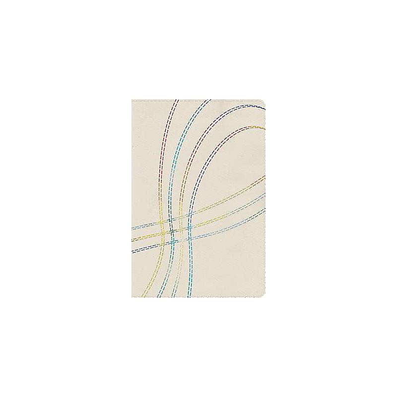 RVR 1960 Biblia de Estudio Arco Iris, bordado multicolor en tela con índice