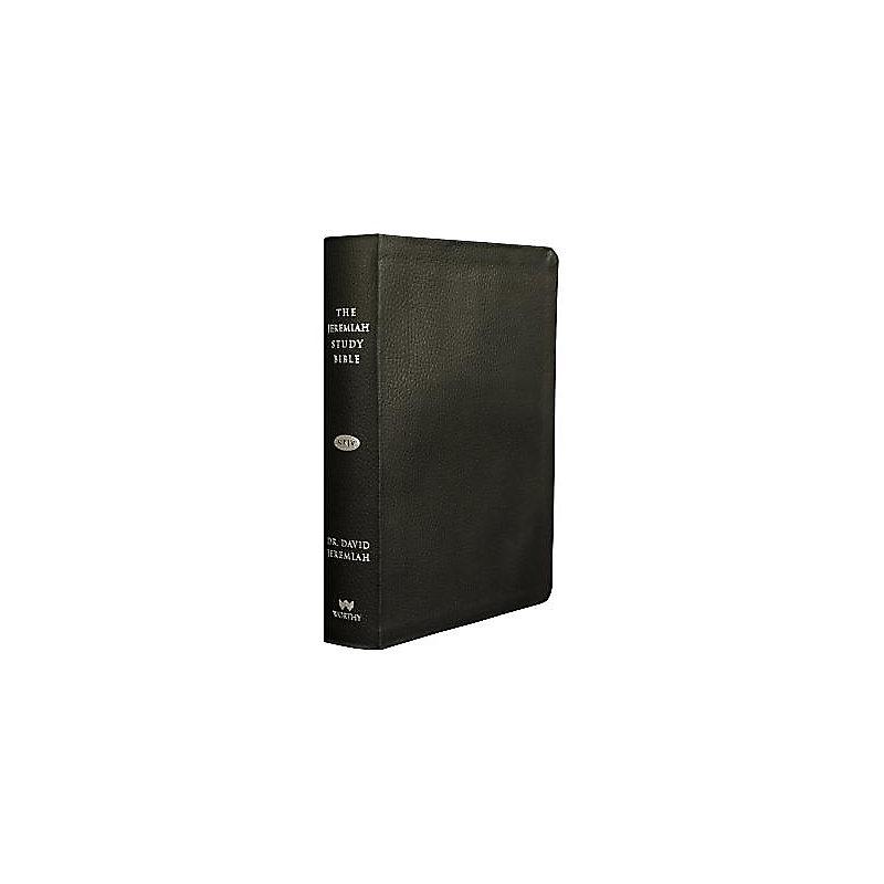 Jeremiah Study Bible NKJV - Genuine Leather: Black ...