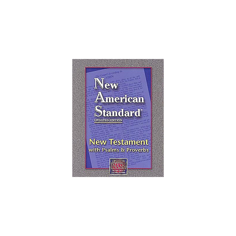 New Testament with Psalms and Proverbs-NASB (Navy)