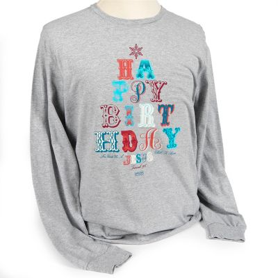 Christmas gifts and products lifeway happy birthday jesus christmas t shirt heather fandeluxe Image collections