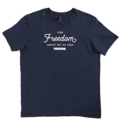 Christian gifts lifeway christ set us free blue t shirt reheart Gallery