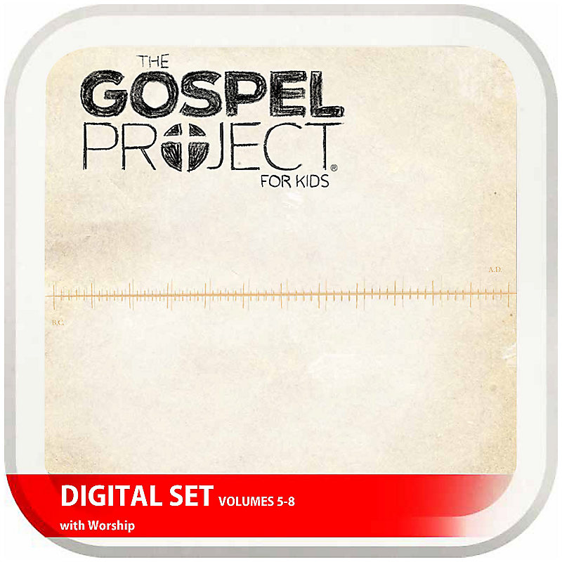 The Gospel Project for Kids: Kids with Worship Hour Add-On Digital Set - Volumes 5-8