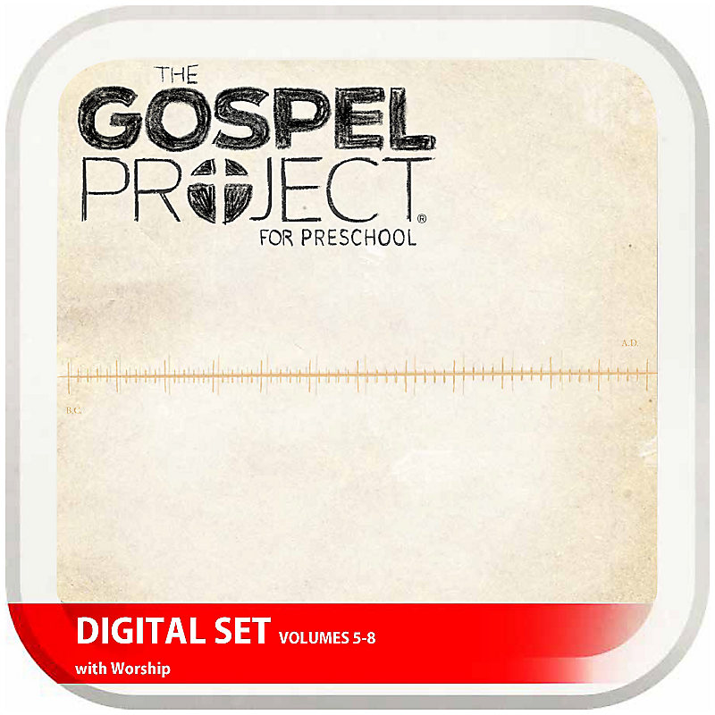 The Gospel Project for Preschool: Preschool with Worship Hour Add-On Digital Set - Volumes 5-8