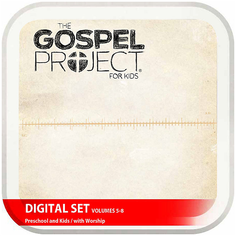 The Gospel Project for Kids: Preschool and Kids with Worship Hour Add-On Digital Set - Volumes 5-8