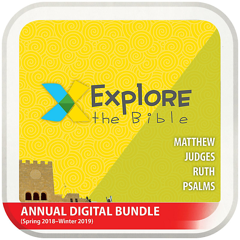 Explore the Bible: Preschool and Kids with Worship Annual Digital Bundle (Spring 2018-Winter 2019)