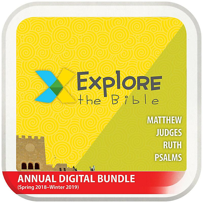 Explore the Bible: Preschool with Worship Annual Digital Bundle (Spring 2018-Winter 2019)