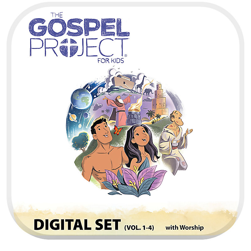 The Gospel Project for Kids: Kids with Worship Hour Add-On Digital Set - Volumes 1-4