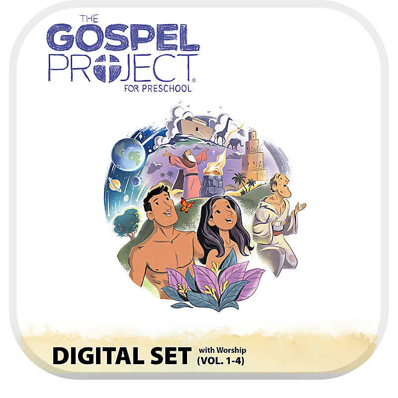The Gospel Project for Preschool: Preschool with Worship Hour Add-On Digital Set - Volumes 1-4