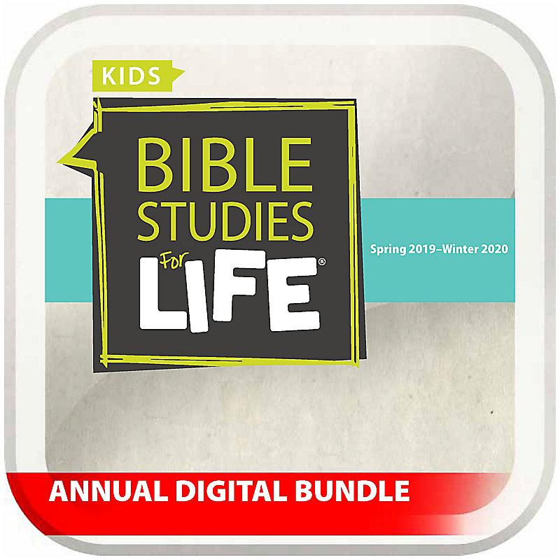 Bible Studies for Life: Kids Annual Digital Bundle NIV (Spring 2019 - Winter 2020)
