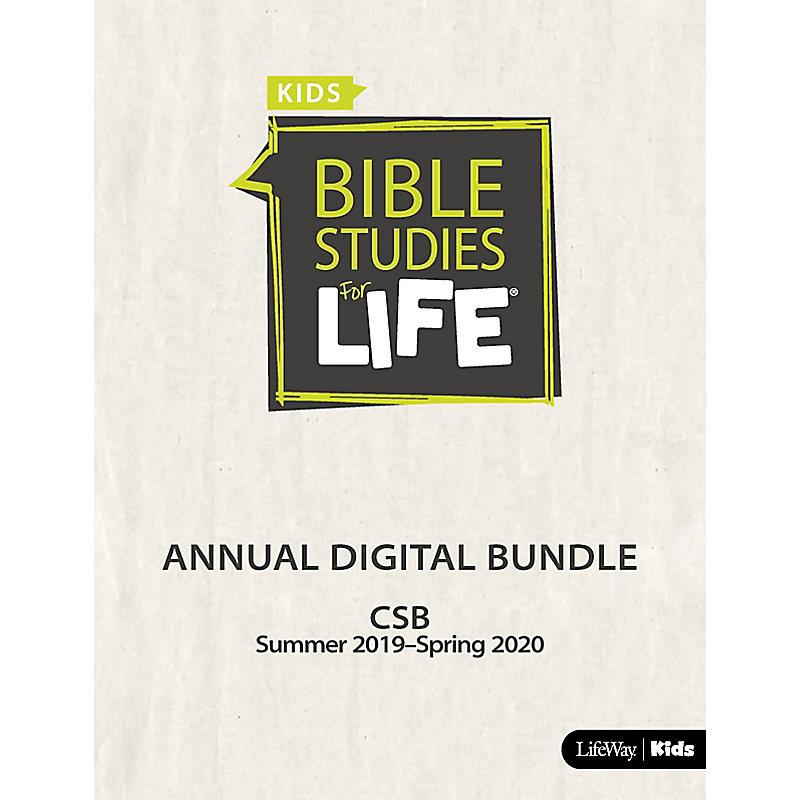 Bible Studies for Life: Kids Annual Digital Bundle CSB (Summer 2019-Spring 2020)