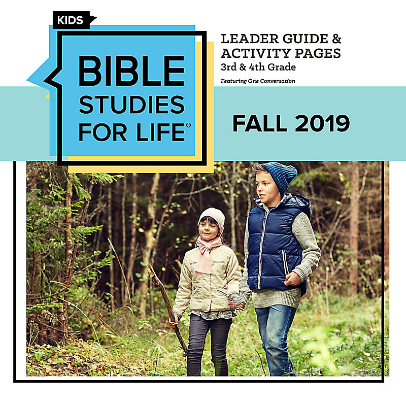 Bible Studies For Life: Kids Grades 3-4 Leader Guide/Activity Pages Digital Fall 2019