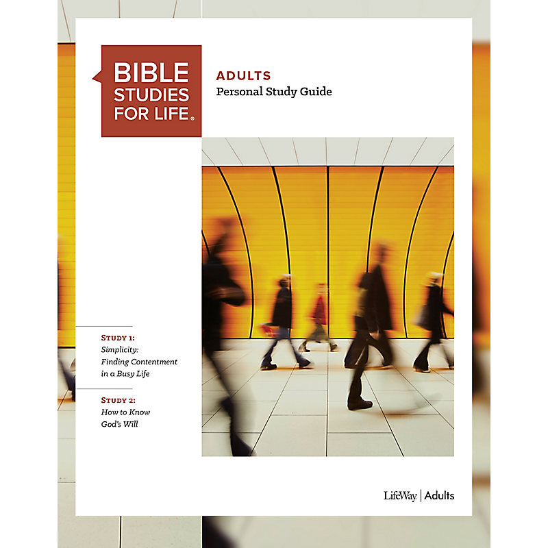 Bible Studies for Life: Adult Personal Study Guide - Fall 2019