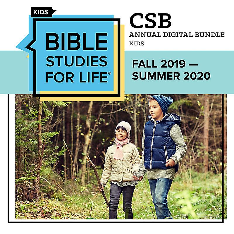 Bible Studies for Life Kids: Annual Digital Bundle CSB (Fall 2019-Summer 2020)