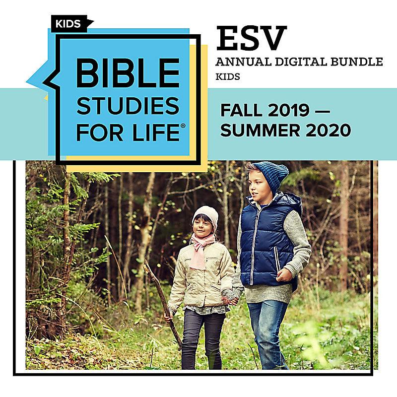 Bible Studies for Life: Kids Annual Digital Bundle ESV (Fall 2019-Summer 2020)