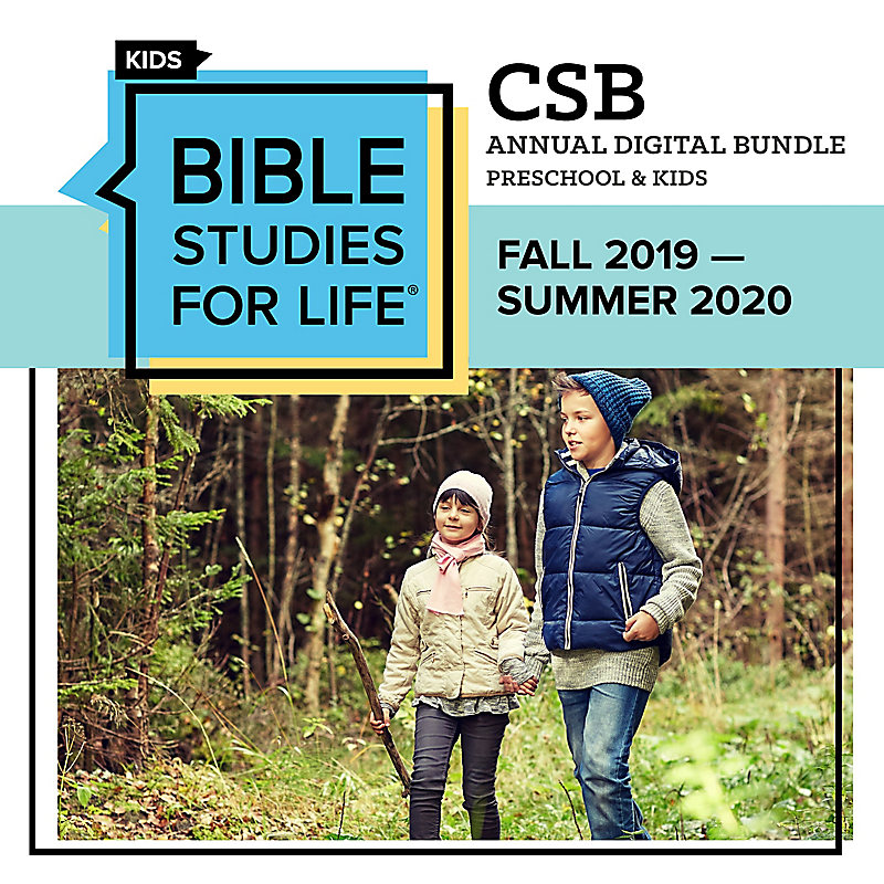 Bible Studies for Life: Preschool and Kids Annual Digital Bundle CSB (Fall 2019-Summer 2020)