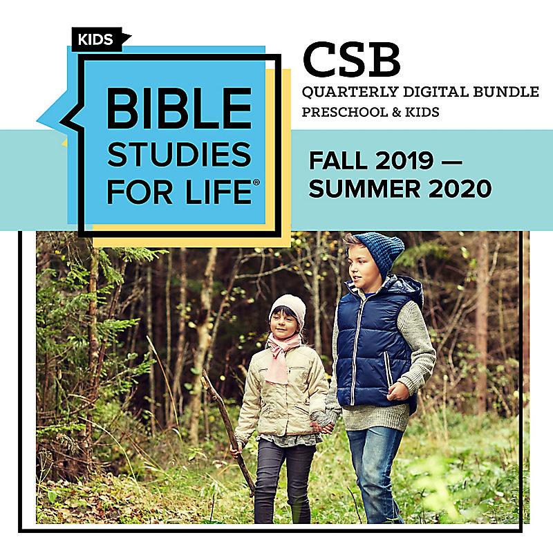 Bible Studies for Life Preschool & Kids Quarter Digital Bundle - CSB