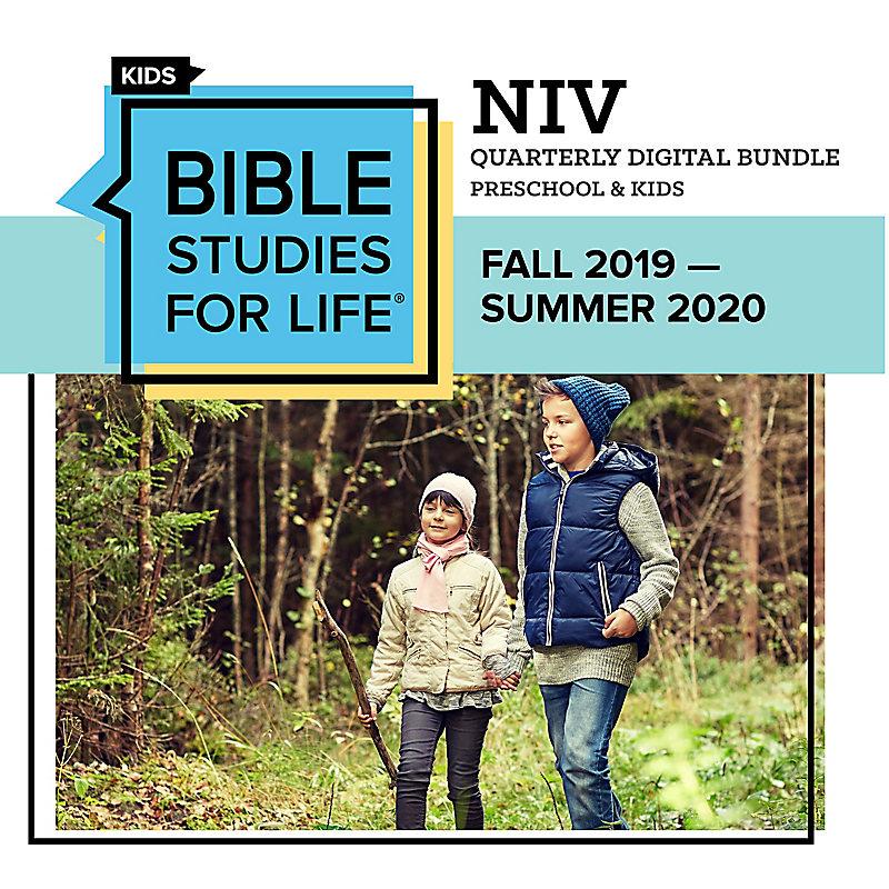 Bible Studies for Life Preschool & Kids Quarter Digital Bundle - NIV