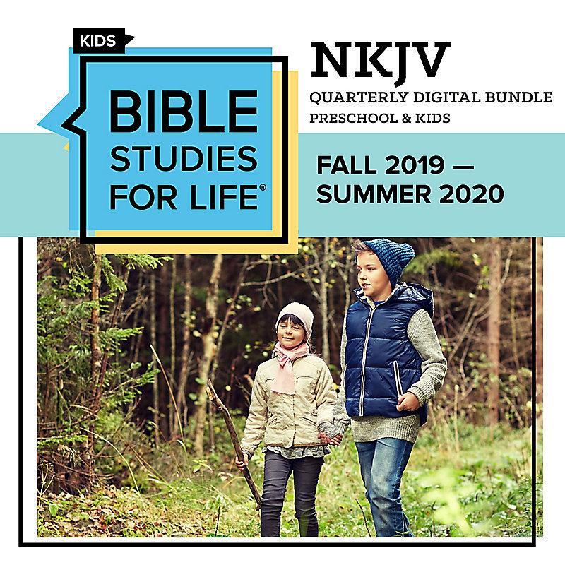 Bible Studies for Life Preschool & Kids Quarter Digital Bundle - NKJV