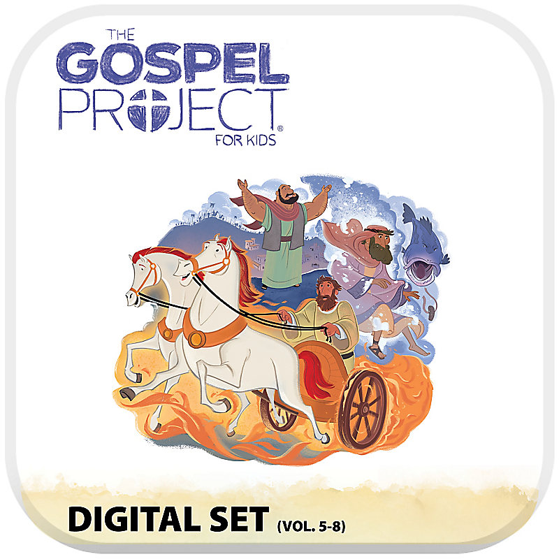 The Gospel Project Kids and Preschool with Worship Hour Add-On Digital Set - Volumes 5-8