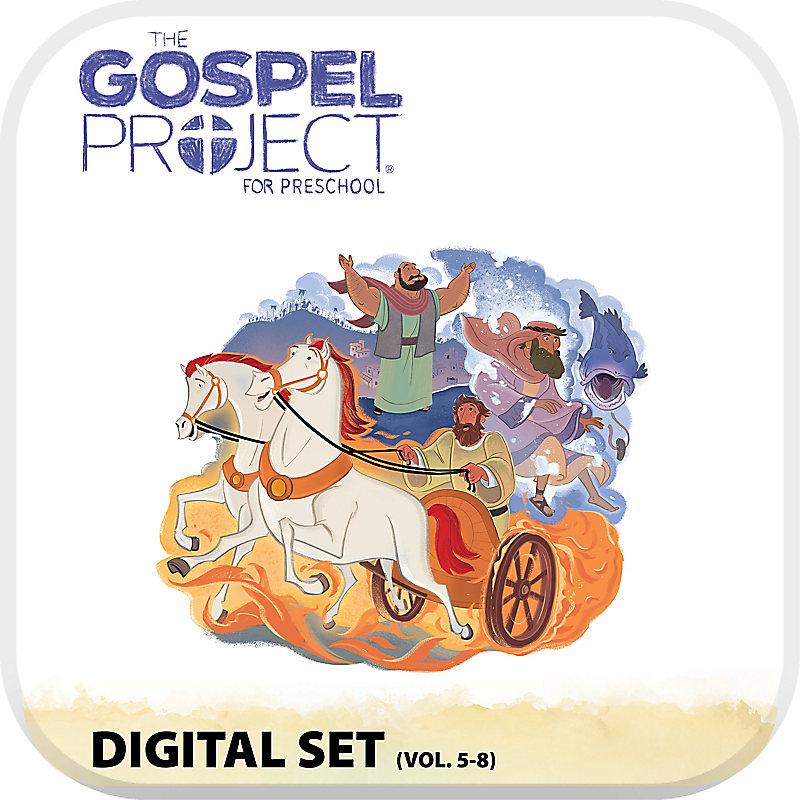The Gospel Project Preschool: Preschool with Worship Hour Add-On Digital Set - Volumes 5-8