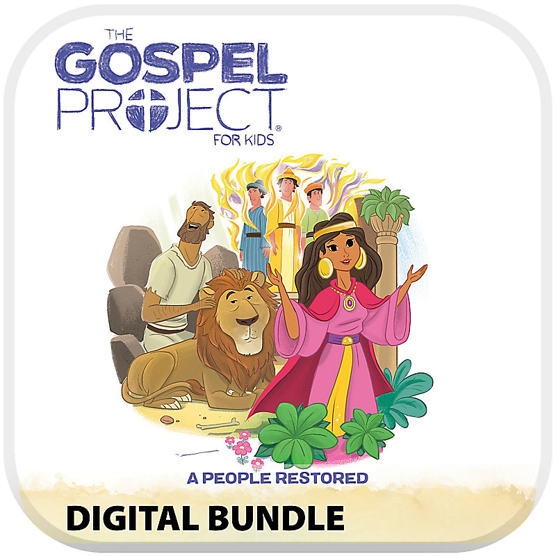 The Gospel Project for Kids: Kids with Worship Hour Add-On Digital Bundle - Volume 6: A People Restored