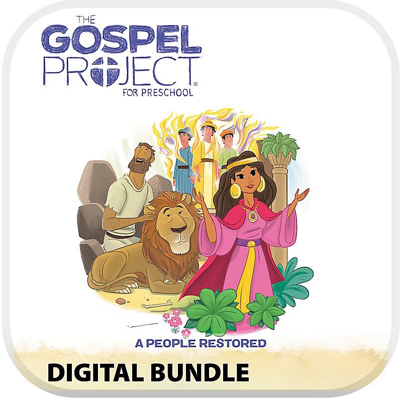 The Gospel Project for Preschool: Preschool with Worship Hour Add-On Digital Bundle - Volume 6: A People Restored