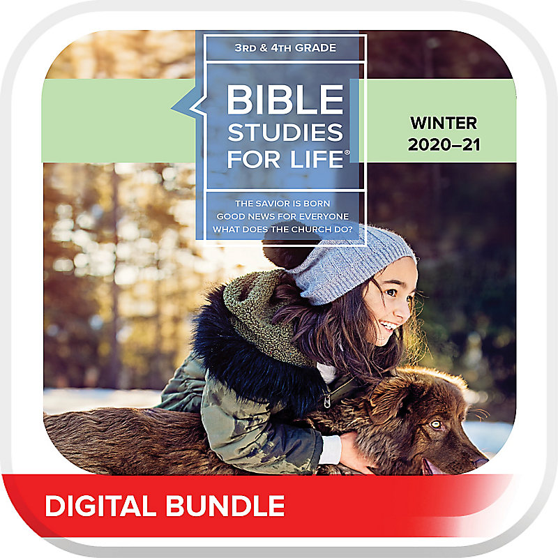 Bible Studies for Life: Kids Grades 3-4 Leader Guide/Activity Pages - Digital Winter 2021