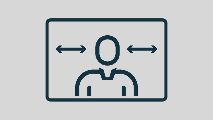 Person looking both directions icon