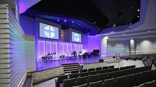 Audio Visual and Lighting - Stage of Marion Church