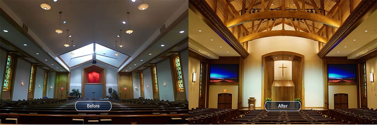 Church Renovation Before and After
