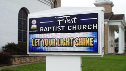 LED Church Sign