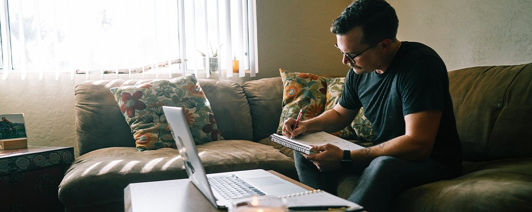 Man planning for leading a Bible study