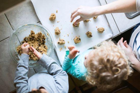 cookie recipe, kids making cookies