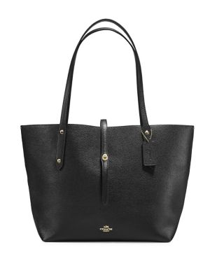 Polished Pebble Leather Market Tote by Coach