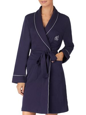 The Hartford Robe With Quilted Collar And Cuffs by Lauren Ralph Lauren