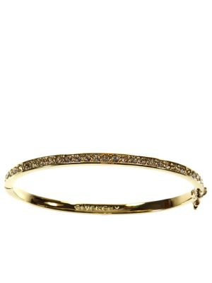 10 Kt. Gold Plated Brass And Crystal Bangle Bracelet by Givenchy