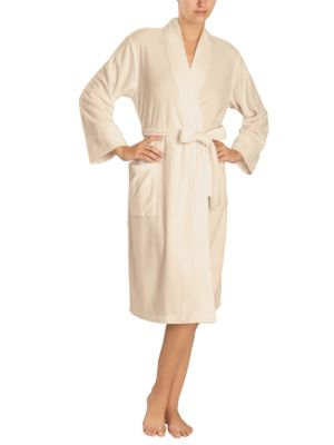 Brushed Terry Open Front Robe by N Natori
