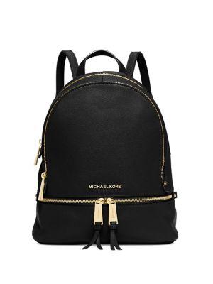 Rhea Zip Leather Backpack by Michael Michael Kors