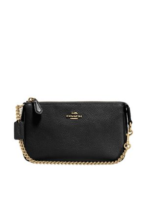 Nolita Wristlet 19 In Polished Pebble Leather by Coach