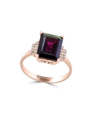 Bordeaux Diamond, Rhodolite And 14 K Yellow Gold Ring by Effy
