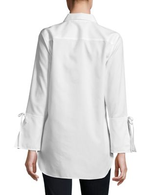 Lace Up Cotton Tunic by Calvin Klein