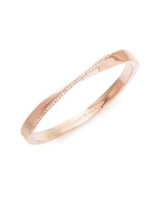 Pavé Crystal Do The Twist Hinged Bangle Bracelet by Kate Spade New York
