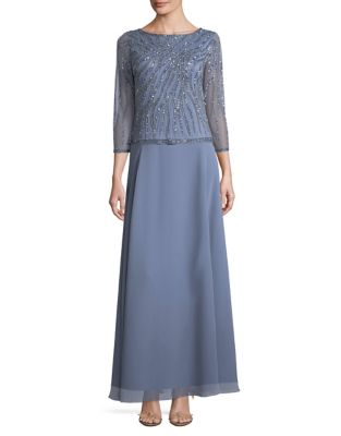 Sequined Long Dress by J Kara