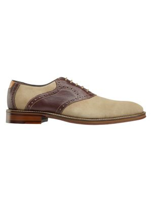Warner Plain Toe Water Resistant Leather Oxford by Johnston & Murphy