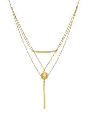 14 K Yellow Gold Triple Strand Necklace by Lord & Taylor