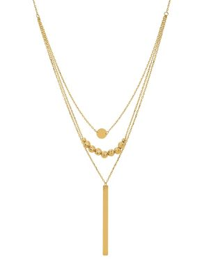 14 K Yellow Gold Triple Strand Chain Necklace by Lord & Taylor